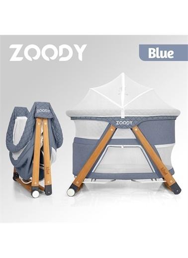 Kiwi Zoody 3 in 1 Bebek Beşiği, Oyun Parkı ve Park Yatak Mavi